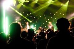 Audiencia del concierto Foto de archivo libre de regalías