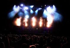 Audiencia del concierto Fotos de archivo libres de regalías