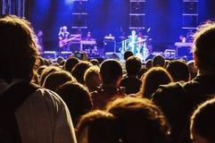 Audiencia del concierto imagen de archivo