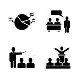 Audiencia del negocio Iconos relacionados simples del vector Fotografía de archivo libre de regalías
