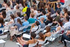 Audiencia en el taller Fotografía de archivo