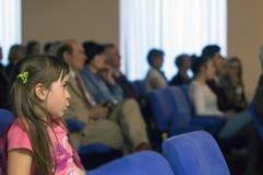 Audiencia en la tarde literaria Imagenes de archivo