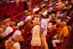 Audiencia en los di Verona, Italia de la arena Imágenes de archivo libres de regalías