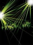 Audiencia en un concierto stock de ilustración