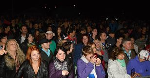 Audiencia en un concierto de la música Fotografía de archivo libre de regalías