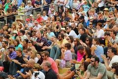 Audiencia feliz Imagen de archivo