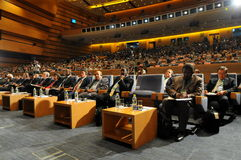 Audiencias de seminario internacional Imágenes de archivo libres de regalías