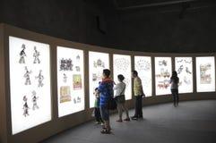 Audiencias que miran la sombra china (21ros UNIMA) Fotos de archivo