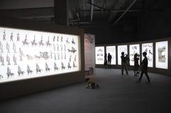 Audiencias y sombras chinas (21ros UNIMA) Imágenes de archivo libres de regalías