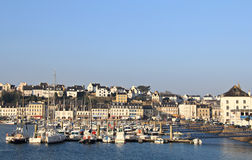 Audierne. Town and seashore . Brittany , France Stock Photography