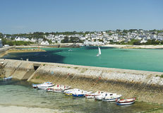 Audierne in brittany Stock Photography