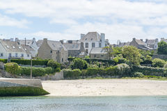 Audierne in Brittany. Coastal scenery around Audierne, a commune in the Finistere department of Brittany in France Stock Photos