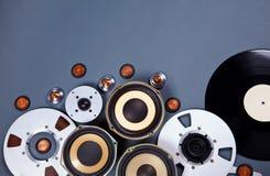 Audio środków przedmiotów kolekci Rozsądny set Obraz Royalty Free