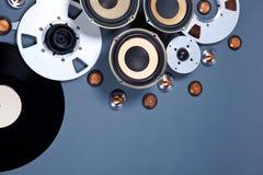 Audio środków przedmiotów kolekci Rozsądny set Fotografia Stock