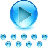 Audio Add On. Icon Set - Audio Add On royalty free illustration