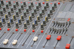 The audio adjustment board Royalty Free Stock Images