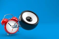 Audio altoparlante con la sveglia illustrazione di stock