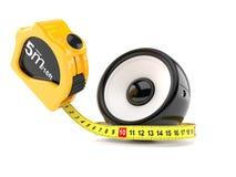 Audio altoparlante con nastro adesivo di misurazione illustrazione di stock