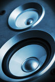 Audio altoparlante del suono del sistema stereo di alta fedeltà Fotografia Stock