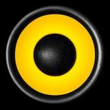 Audio altoparlante giallo Fotografie Stock