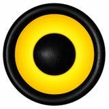 Audio altoparlante giallo Immagine Stock Libera da Diritti
