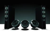 Audio altoparlanti di alta definizione, musica Fotografie Stock Libere da Diritti