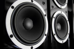 Audio altoparlanti neri Immagine Stock Libera da Diritti