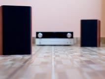 Audio altoparlanti sul pavimento Fotografia Stock Libera da Diritti