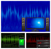 Audio & de apparatuur van TV Stock Foto