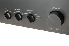 Audio amplificatore nero immagine stock libera da diritti