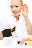 Audio amplifier for the hearing impaired. Stock Images