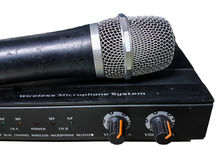 Audio amplifikatory kontrolny mic Obrazy Stock