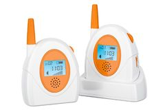 Audio baby monitor, baby alarm. 3D rendering Royalty Free Stock Image