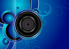 Audio background Stock Images