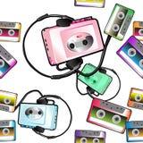 Audio bandpatroon Royalty-vrije Stock Foto