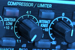 Audio beperkerscompressor Stock Foto