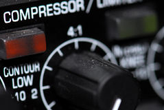 Audio beperkerscompressor Stock Foto's