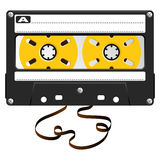 Audio black cassette Royalty Free Stock Photo