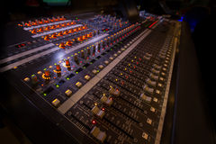 Audio Board. A large audio board used in live audio performances Stock Images