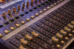 Audio Board. An audio board used in large live productions Stock Images
