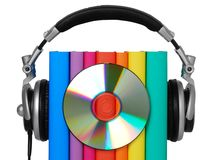 Audio book concept royalty free stock photography