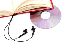 The audio-book concept Royalty Free Stock Photos