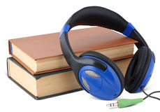 Audio book concept. On white Stock Images