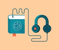 Audio book concept vector illustration Royalty Free Stock Photo