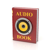 Audio book 3d isolated illustration Royalty Free Stock Image