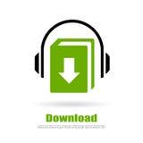 Audio book download logo Royalty Free Stock Photos