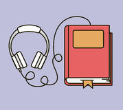 Audio book  icon Royalty Free Stock Images