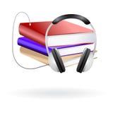 Audio books clip art Stock Images