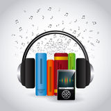 Audio books technology Stock Photography