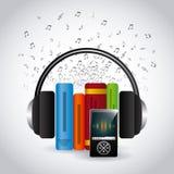 Audio books technology Stock Photography